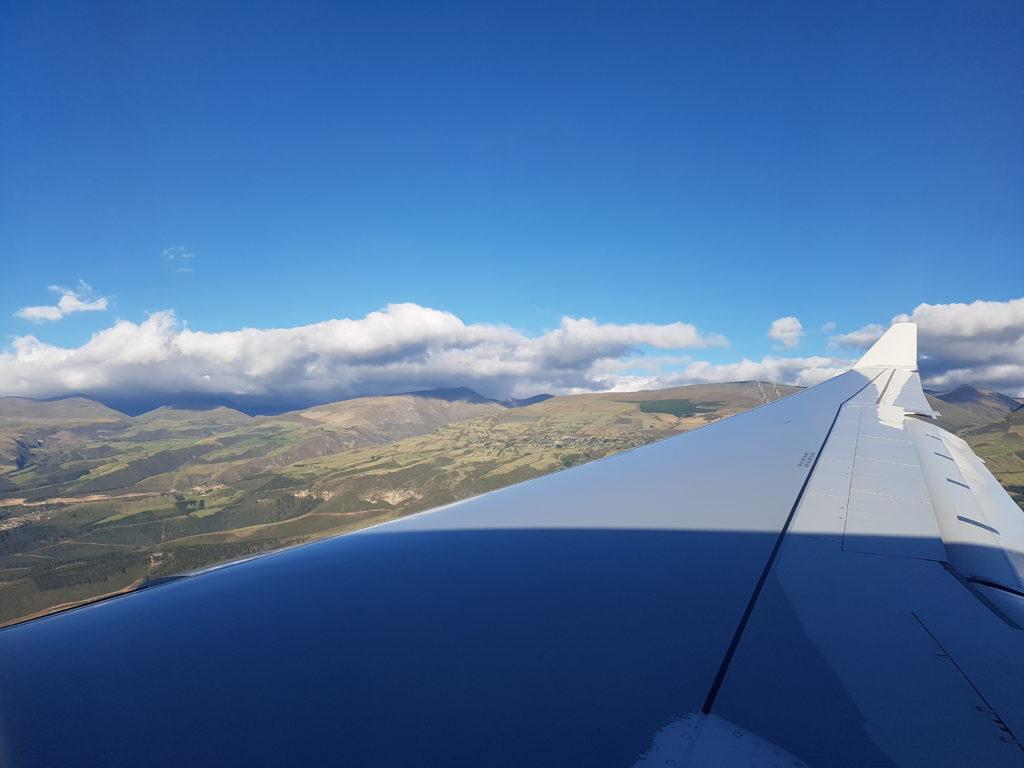 Widok z samolotu tuż przed lądowaniem