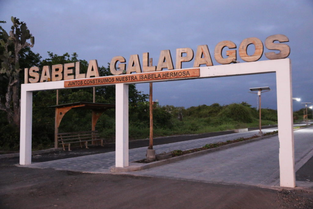 Wejście do Puerto Villamil
